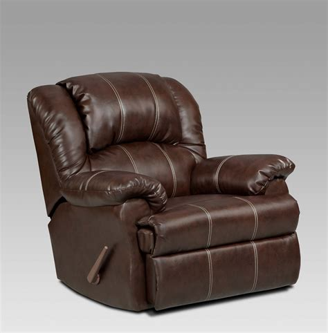 arm chair recliner brandon brown bonded leather rocker recliner brown