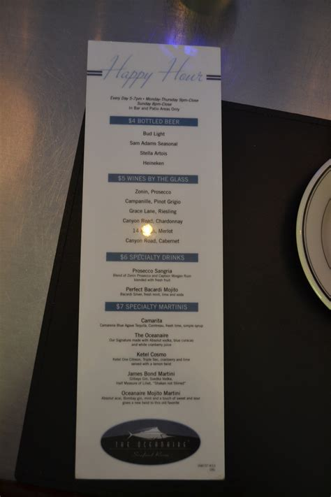 blue martini menu yard house drink menu prices