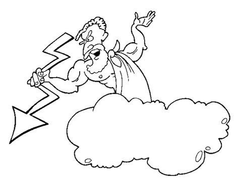 printable coloring pages of zeus coloring page zeus thunderbolt color online coloringcrew