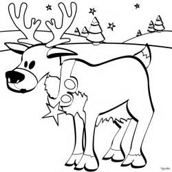 christmas reindeer coloring pages hellokids com