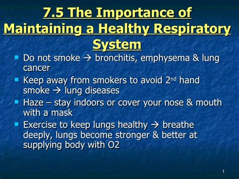 what to keep 7 1 5 the importance of maintaining a healthy respiratory