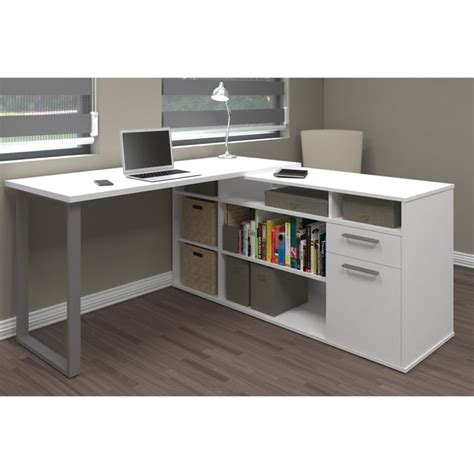l desk white bestar solay l shaped desk in white 29420 17