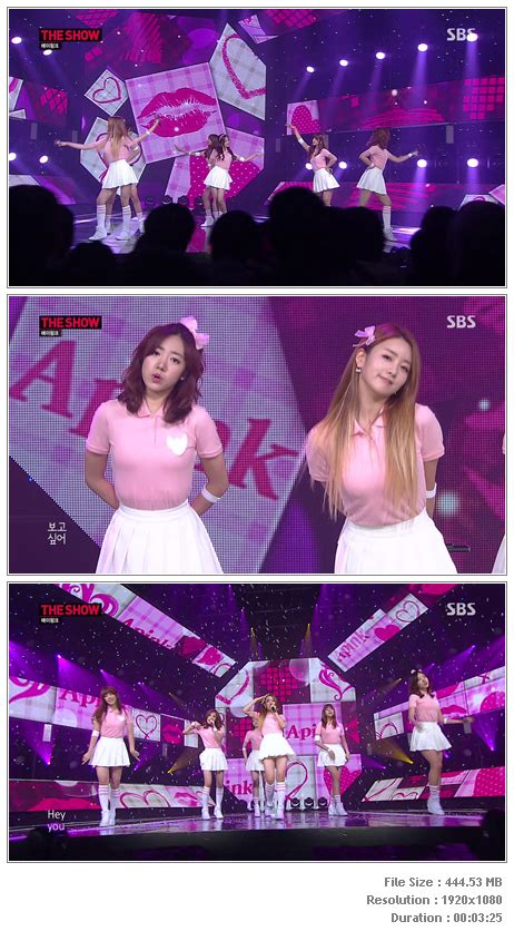 a pink mr chu live inkigayo perf apink mr chu 140520 sbs the show hd hallyu