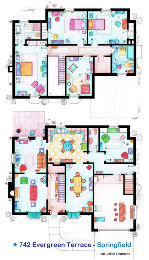 simpsons house floor plan floor plan of 742 evergreen terrace springfield the home of the simpsons thesimpsons