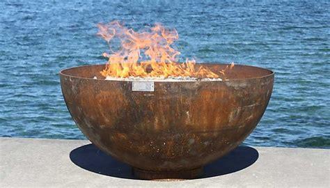 steel pit bowl big bowl o zen sculptural firebowl by t unger metal