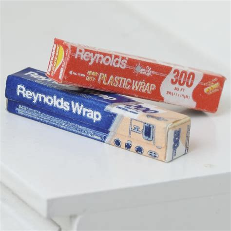 plastic wrap dollhouse miniature foil and plastic wrap boxes craft