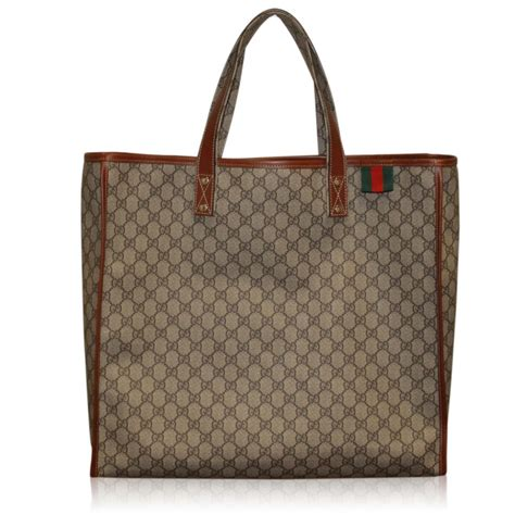 Gucci Travel Tote by Gucci Large Monogram Coated Canvas Tote Travel Bag