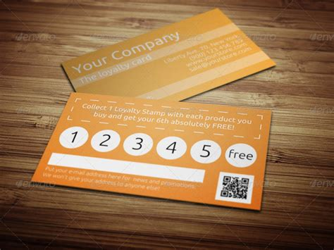 15 best printable loyalty card templates