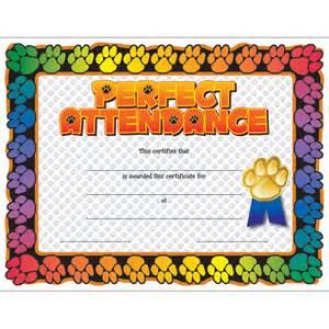 jones certificate templates paw attendance certificate jones school supply