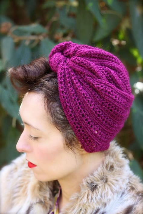 knitted turban pattern free turban hat knitting patterns in the loop knitting