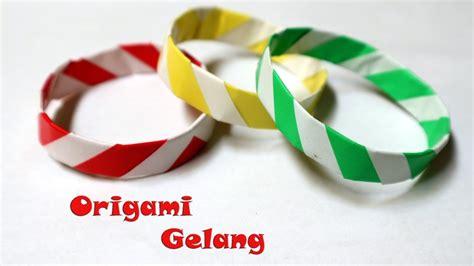 membuat gelang kertas origami gelang kertas mudah origami paper bangle youtube