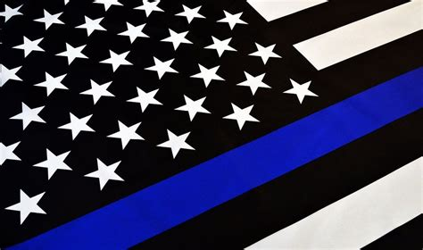 enforcement thin blue line flag high school football player shows his colors