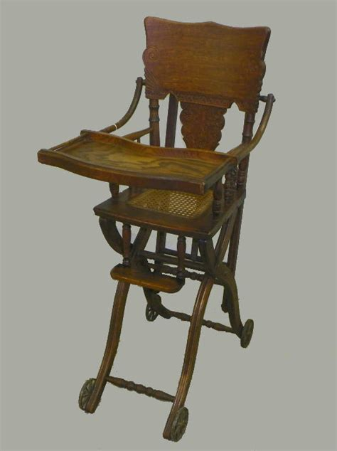 Antique Stroller High Chair bargain s antiques 187 archive antique oak high