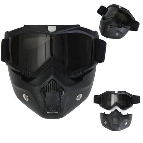 motocross helmet with face shield motorcycle helmet face mask shield goggles detachable