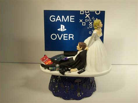 Hochzeitstorte Ps4 by And Groom Playstation Wedding Cake