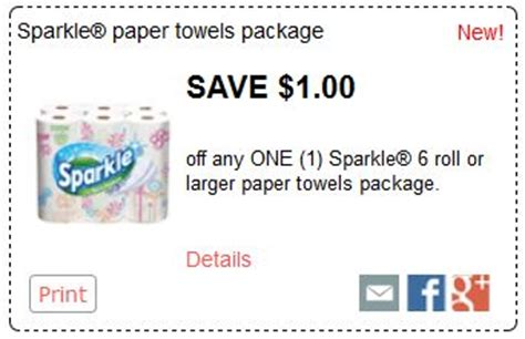 Sparkle Coupons Printable