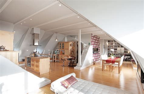 attic apartment ideas stockholm attic with stepped walls steep ceilings