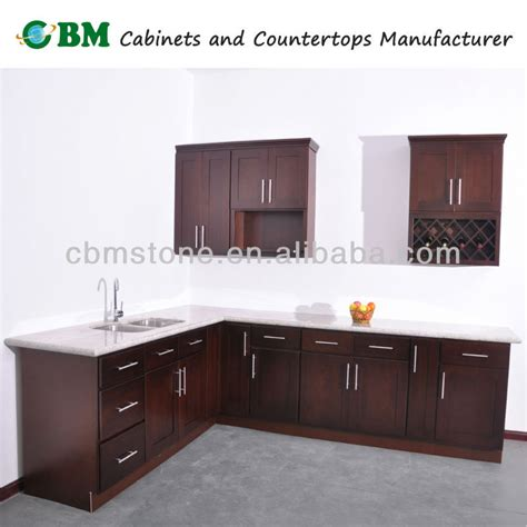 espresso beech wood kitchen cabinet with shaker door style