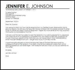 cna resignation letter resignation letters livecareer