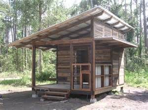 small cabin with a slanted roof oliver