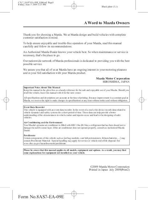 car repair manuals online pdf 2009 mazda cx 7 electronic throttle control mazda cx 3 owners manual pdf download autos post
