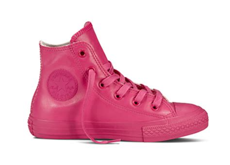 Convers Rubber Pink converse chuck all leather hi top cosmos pink
