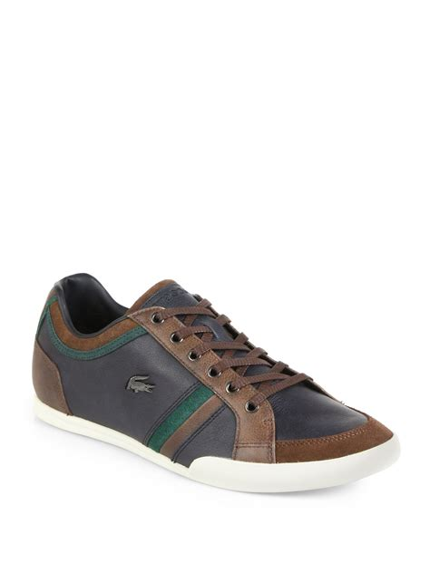 lacoste sneakers mens lacoste rayford leather suede sneakers in gray for