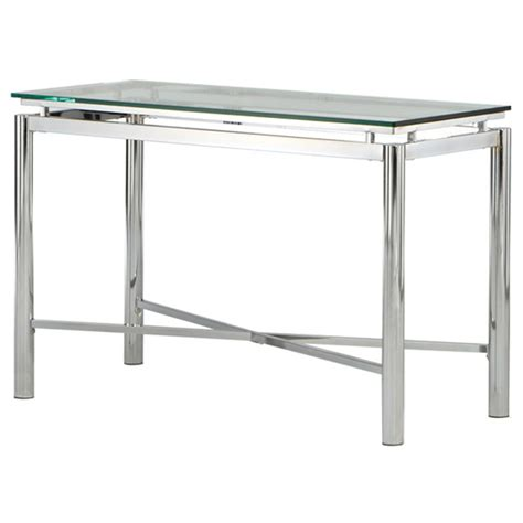 glass top sofa table contemporary sofa table with glass top dcg stores
