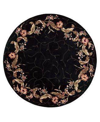 u circular black black area rugs black flower pattern vintage