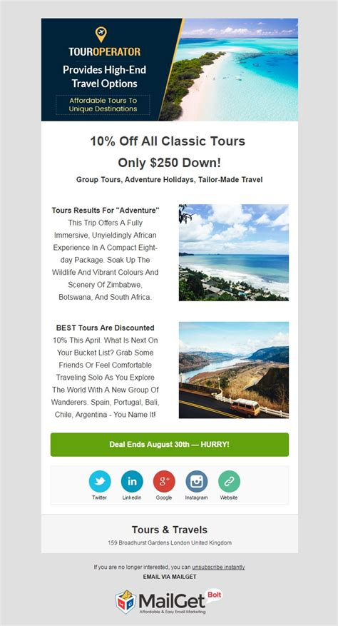 agencies email templates  trade travel