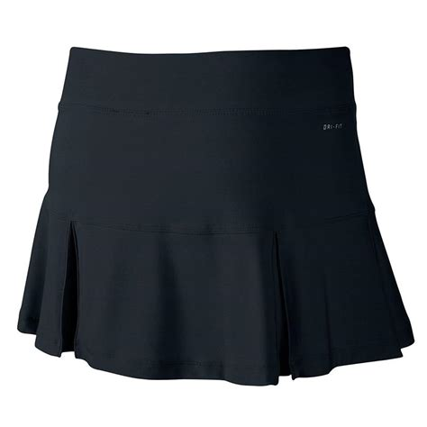 nike four pleated knit s tennis skirt black