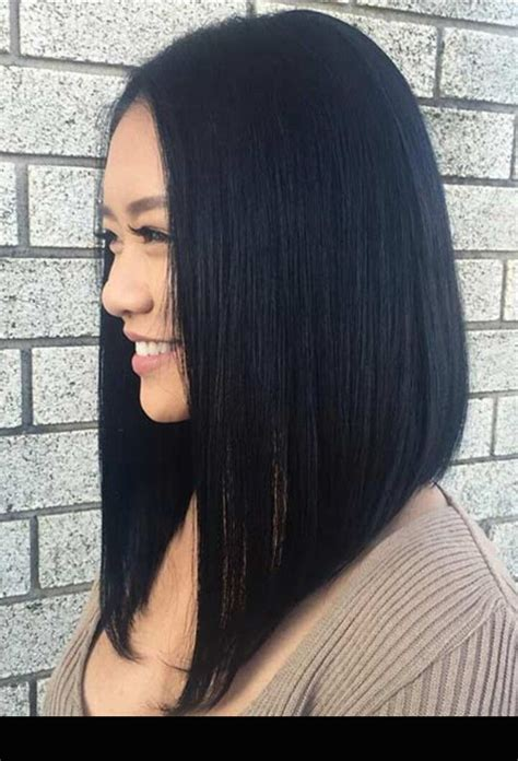 angled long hair long in front best 25 long angled bob hairstyles ideas on pinterest