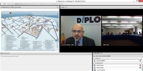Chat Room Presenter by Diplo Conducts E Diplomacy In Kitts And