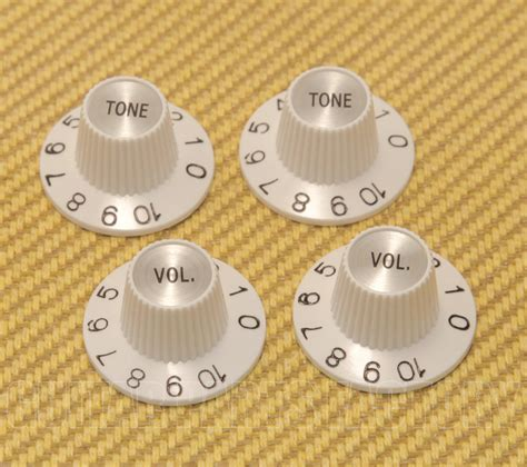 White Witch Hat Knobs by Guitar Parts Factory Witch Hat Knobs