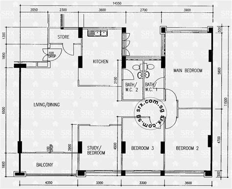 hdb floor plan floor plans for hougang street 51 hdb details srx property