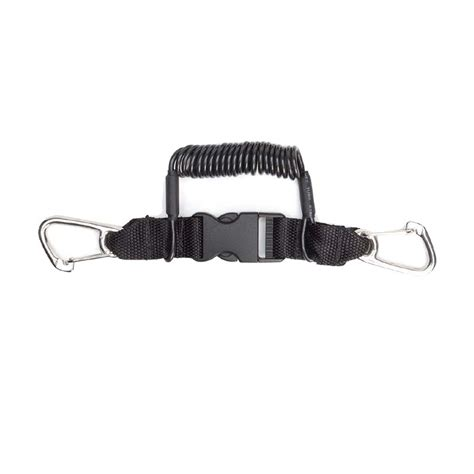 Scuba Lanyard Retractor Cl 17 xs scuba coil lanyard 52 stainless steel snap clip split ring retractors scuba