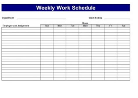 schedule of work template excel schedule maker word excel