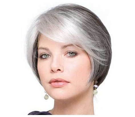 highlights for white hair on older women gray hair styles women with white hair short
