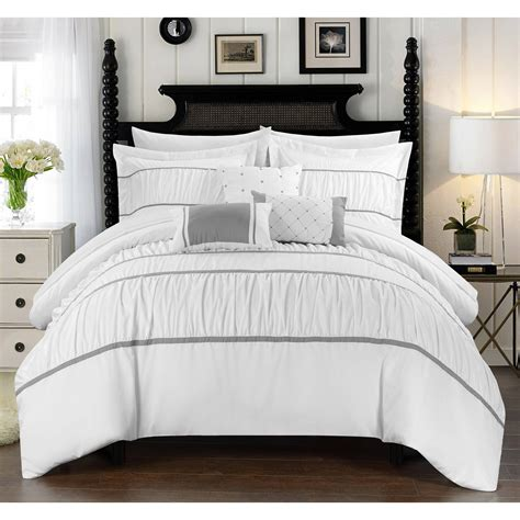 Wanda 10 Piece Wanda Bed In A Bag Bedding Comforter Set Ebay Bed In Bag Sets