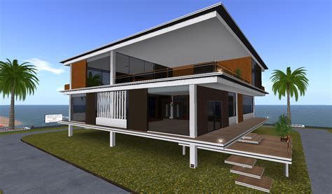 architectural designs expol villa modern architectural design bobz design studio creations second life