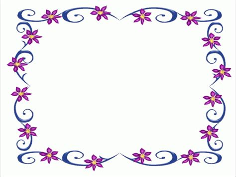 flower frame template certificate borders templates free clipart best