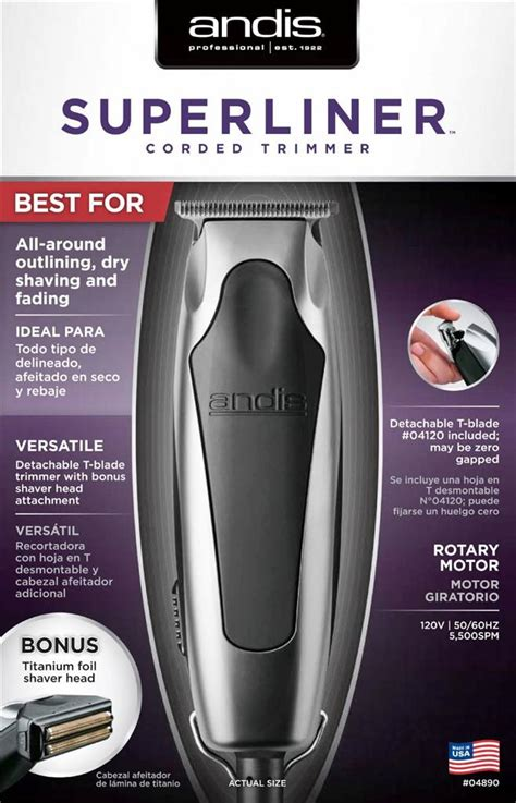 Andis Superliner Trimmer Blade andis superliner hair trimmer 04890 cut bonus ttitanium