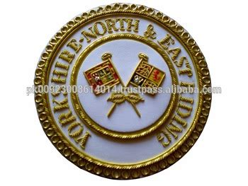 regalia yorkies masonic east standard bearer dress apron badge buy