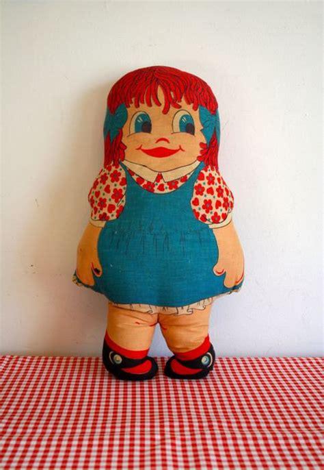 70s rag doll vintage 60s rag doll suzy raggedy style doll by