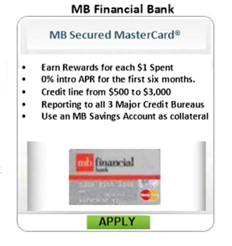 bank mb secured credit cards from top banks the best credit