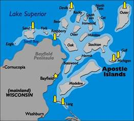 apostle islands map apostle islands national lakeshore