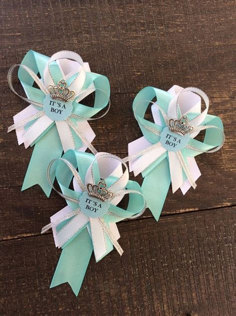 Baby Shower Pins Ideas by 12 Aqua Guest Pins For Baby Shower Light Teal Baby Shower