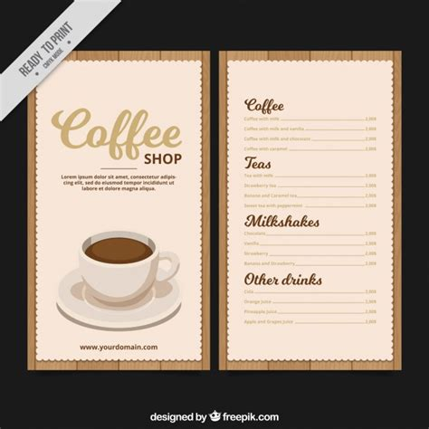 coffee menu template free retro coffee menu template vector free