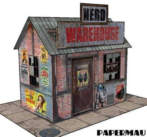 free paper model buildings downloads papercraftsquare com new paper craft nerd warehouse free