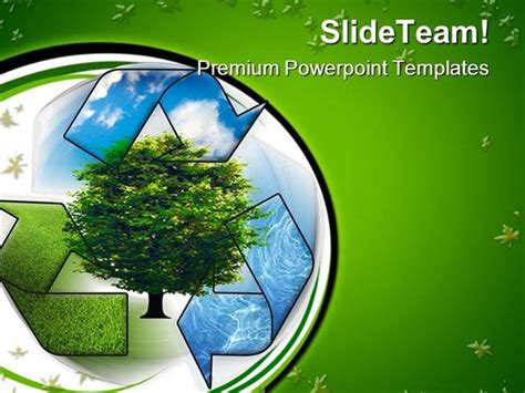 environment powerpoint template recycle and clean environment powerpoint templates and